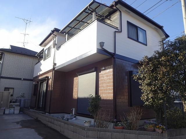 【施工実績92】外壁塗装・屋根重ね葺き工事:埼玉県久喜市