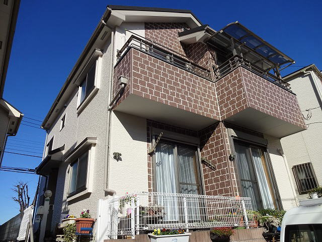 【施工実績43】外壁塗装・屋根重ね葺き工事:埼玉県新座市