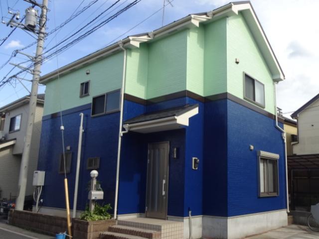 【施工実績137】外壁塗装・屋根重ね葺き:埼玉県川口市