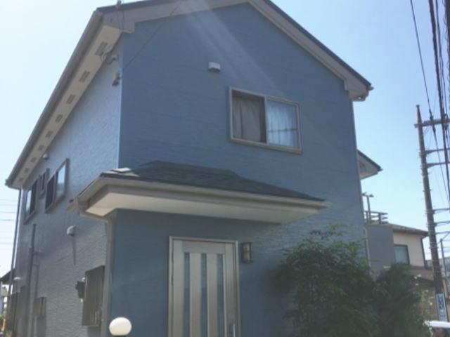 【施工実績140】外壁塗装・屋根重ね葺き:埼玉県春日部市