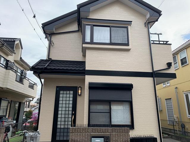 【施工実績375】外壁塗装・屋根重ね葺き:埼玉県所沢市