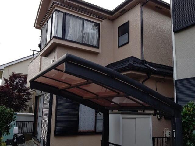 【施工実績410】外壁塗装・屋根重ね葺き:埼玉県入間市