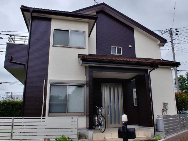 【施工実績420】外壁塗装・屋根重ね葺き:埼玉県東松山市