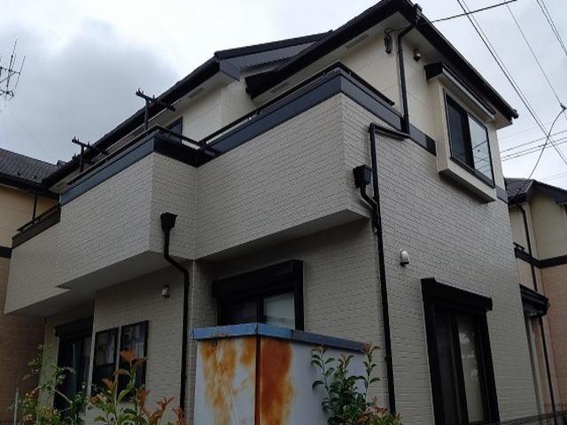 【施工実績436】外壁塗装・屋根重ね葺き:埼玉県上尾市