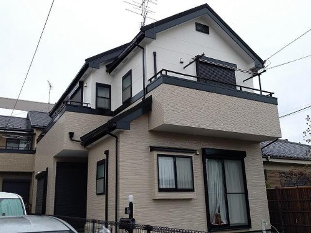 【施工実績479】外壁塗装・屋根重ね葺き:埼玉県春日部市