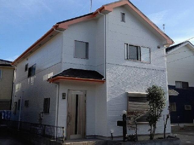 【施工実績495】外壁塗装・屋根重ね葺き:埼玉県鴻巣市