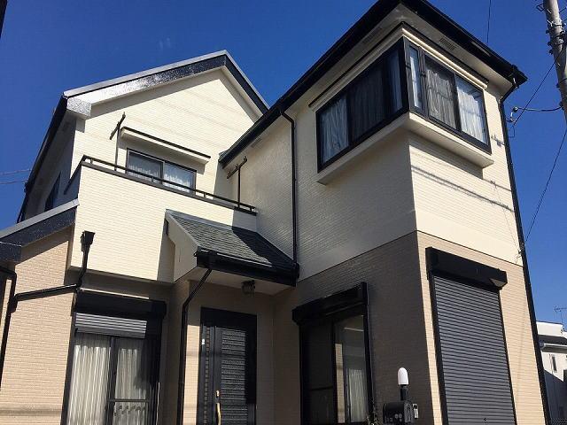 【施工実績501】外壁塗装・屋根重ね葺き:埼玉県坂戸市