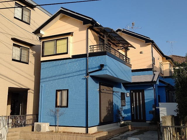 【施工実績524】外壁塗装・屋根塗装:埼玉県春日部市