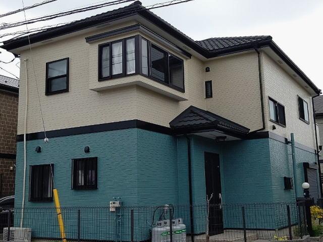 【施工実績529】外壁塗装・屋根重ね葺き:埼玉県草加市