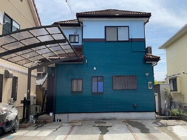 【施工実績536】外壁塗装・屋根重ね葺き:埼玉県川口市