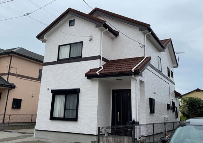 【施工実績540】外壁塗装・屋根重ね葺き:群馬県高崎市