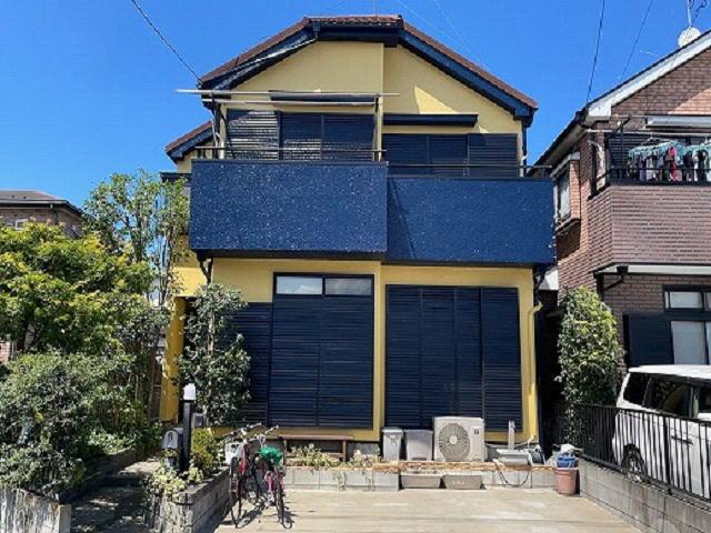 【施工実績575】外壁塗装・屋根重ね葺き:埼玉県川越市
