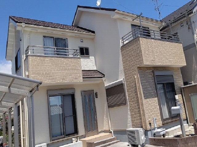 【施工実績579】外壁塗装・屋根重ね葺き:埼玉県白岡市