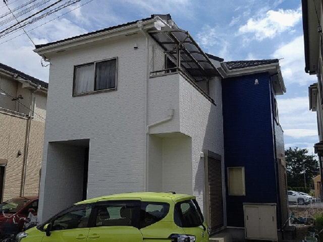 【施工実績583】外壁塗装・屋根重ね葺き:埼玉県越谷市