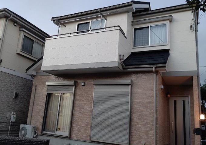 【施工実績604】外壁塗装・屋根重ね葺き:埼玉県川越市